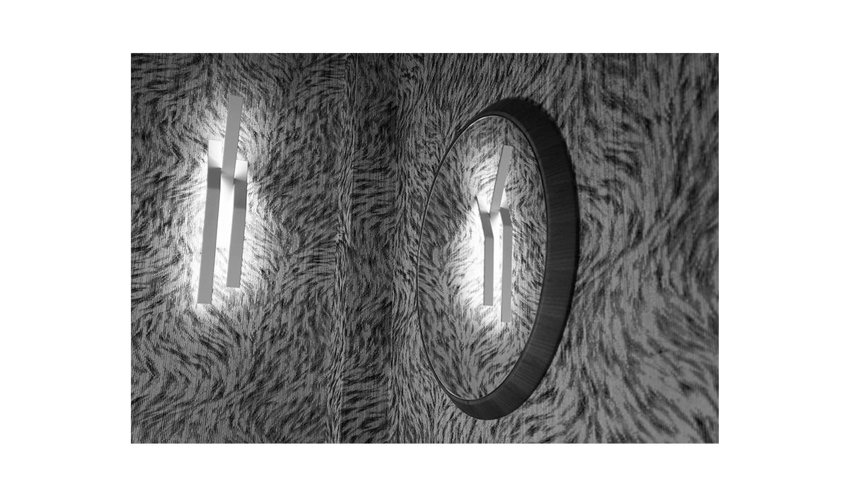 Applique MURMUR Série 01 Gauche - Galerie Rouge Ardoise